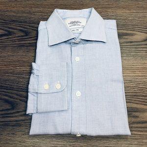 Charles Tyrwhitt Blue Check Slim Fit Shirt 16-35